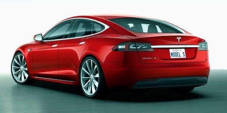 Tesla Model S Arka Görünüm
