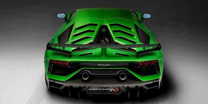 Lamborghini Aventador SVJ Arka Kısım